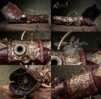 Steampunk Armcannon  (Version 2.0) by Aetherwerk