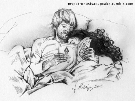 Reading in Bed by jucyjesy82