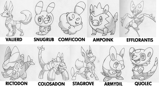 Fakemon Skethes by Marix20