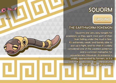 Squorm, the Earthworm Fakemon by AtmaFlare