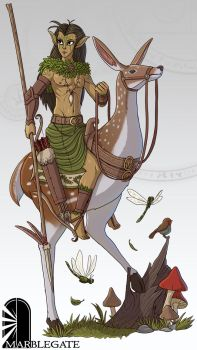 Wood Elf Cavalier by Brett-Neufeld