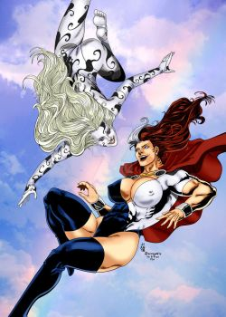 Powera and Allundra in Flight Jean Sinclair by THE-Darcsyde