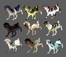 canine adoptables  {OPEN 2/9} by HappyHappyA