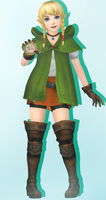 Hyrule Warriors Legends - Linkle + Model Download by Cyan-Th
