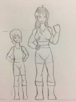 Julias and Gil - Height Compare WIP by TroytheDinosaur