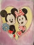 Mickey and Minnie Mouse Valentine by 17cherry