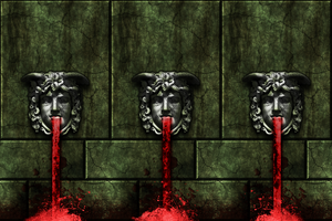 Green Bricks w/blood fountain (Remake) by Hoover1979