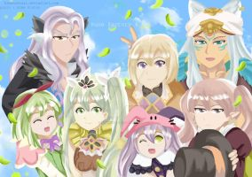 Groufie time! (rune factory 4) by BintangPasca