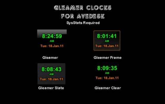 Gleamer Clocks for AveDesk by Geduget