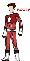 Mighty Morphin Red Uni by burnsyroxx