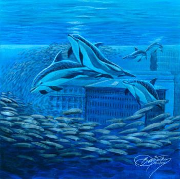 Dolphin Mural Concept by Damalia