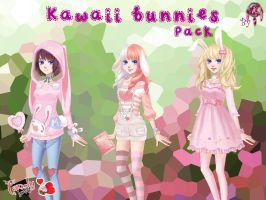 MCL pack- Kawaii bunnies by FNAFfanart67