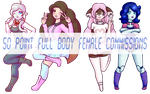 50 Point Full Body Female Commissions by SurceEtSel