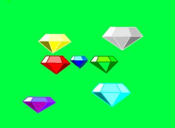 7 Chaos emeralds for 1 blue hedgehog by soniclover1442