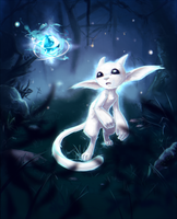 [Ori and the Blind Forest] In the dark. by ProtoRC
