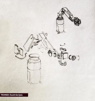Tehno-illustration - industrial robotics by Pumais