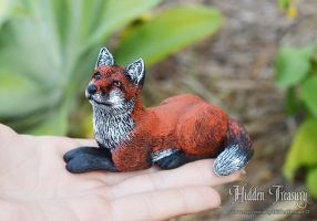 Fox Sculpt. by HiddenTreasury