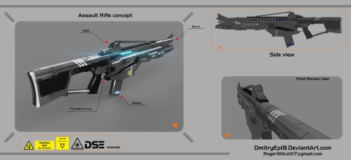 Assault rifle concept by DmitryEp18