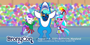 BronyCon 'Leftshark' Banner by Tim-Kangaroo