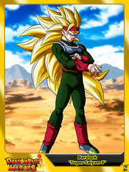 (Dragon Ball Heroes) Bardock Xeno 'Super Saiyan 3' by el-maky-z