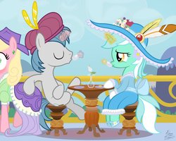 Lyra and Daftypone, Sippin' on Some Tea... by FacelessJr