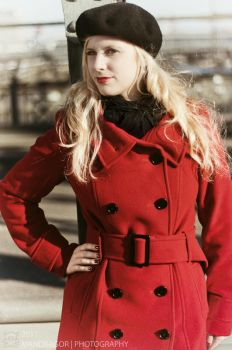 Red Coat by MandragorPhotography