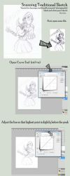 Tutorial on cleaning pencil sketch by Exoen144