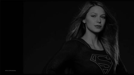 Supergirl In Black and White Wallpaper by Curtdawg53