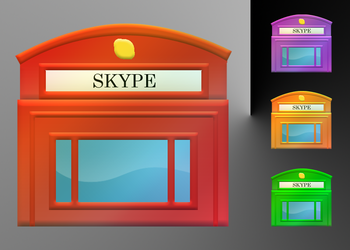 Skype Telephone Booth Icons by Yffum