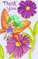Fairy Thank You Card by EmilyCammisa