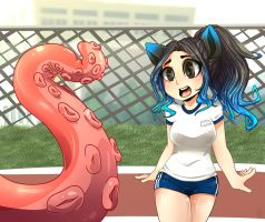 [FanArt] AkiDearest and Tentacle Sama by senpaimisskitty