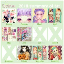 2018 Summary of art by Sugar-Nami