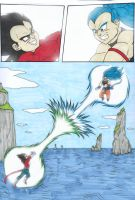 DB - SSJB Raditz VS SSJ4 Vegeta by IsabellaFaleno