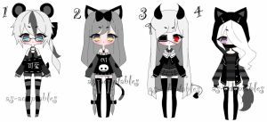 monochromatic adoptable batch CLOSED by AS-Adoptables