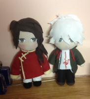 China and Komaeda plushies by Harukuma