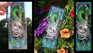 Dragon/Unicorn Bookmark: ~Twists and other Events~ by Azzurgil