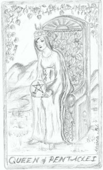Queen of Pentacles by themooniscrying