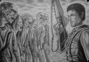 Daryl Dixon-fight with the walking dead by vadim79vvl