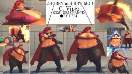 USF4 MOD CHUBBY and BBW C. Viper by morugen