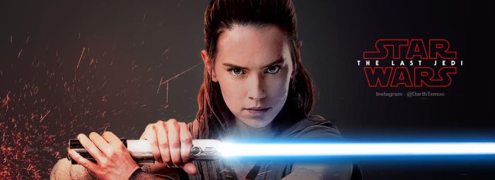Rey Banner - The Last Jedi by DarthTemoc