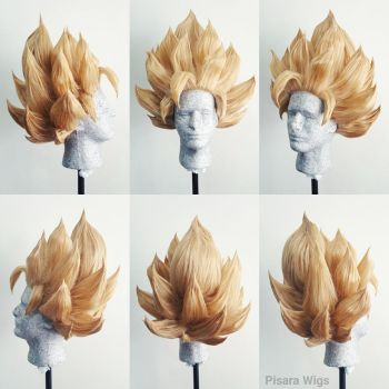 SS2 Goku Wig Commission by Pisaracosplay