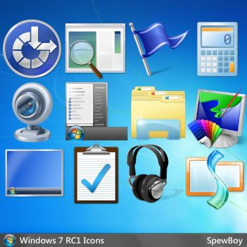 Windows 7 Official 256x256 Icons (PNG) by muckSponge