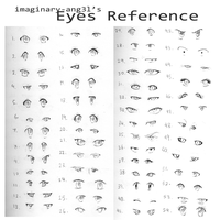 Anime Eyes Reference by imaginary-ang3l