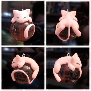 Mew Marble Charm: Eyes Closed by Blazesnbreezes