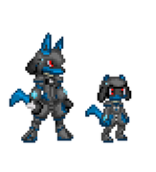 RWE Riolu and Lucario Armour by ralord