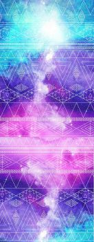 Free to use - Custom Box Galaxy Aztec Background by LizzyWolfFire6