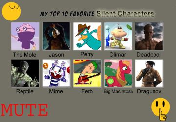 My top ten favorite silent characters by Porygon2z