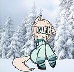 Stella in snow by crystalpink1616