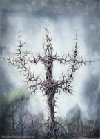 The Holy Cross In The Forest by Tistelmark