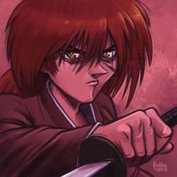 Daily Sketches Himura Kenshin by fedde